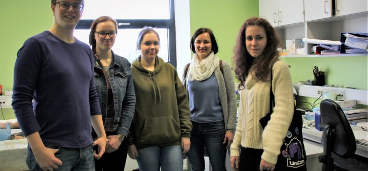 Latvian pupils came to visit our Institute of Technology and discuss science and study possibilities
